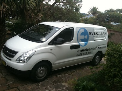Everclear Cleaning Van